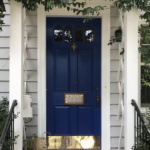 blue and gold front door - curb appeal ideas from Annie Meadows, Raleigh Realtor with Hudson Residential