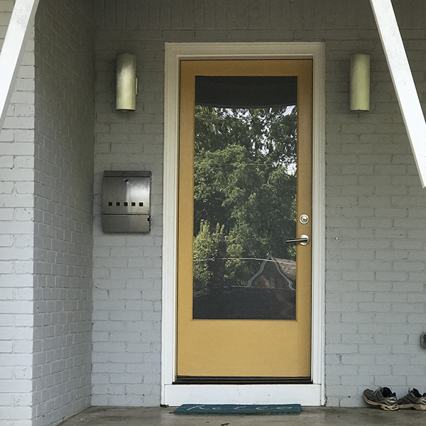 yellow front door - curb appeal ideas from Annie Meadows, Raleigh Realtor with Hudson Residential