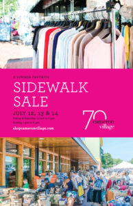 Summer Sidewalk Sale 2019