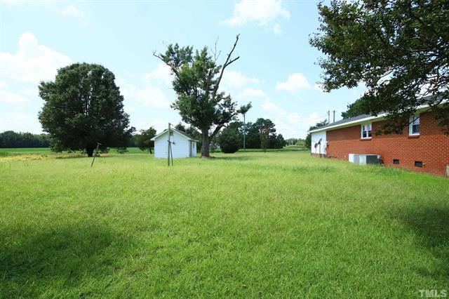 854 Five Points Road in Benson For Sale With Annie Meadows at Hudson Residential - Backyard Shed
